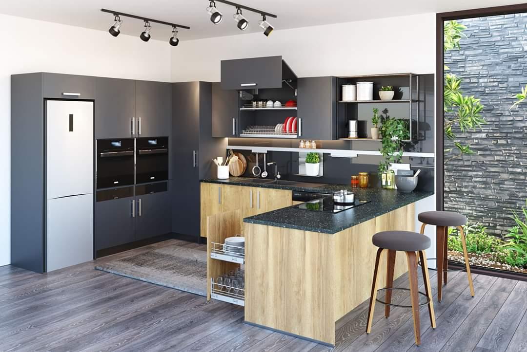 Thực tế hệ tủ bếp bằng gỗ MDF chống ẩm hiệu quả